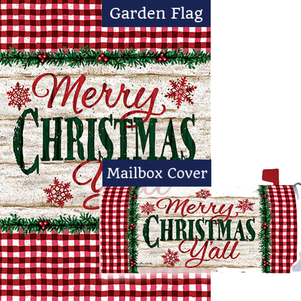 Christmas Y'all Double Sided Flag Mailwrap Set (2 Pieces)