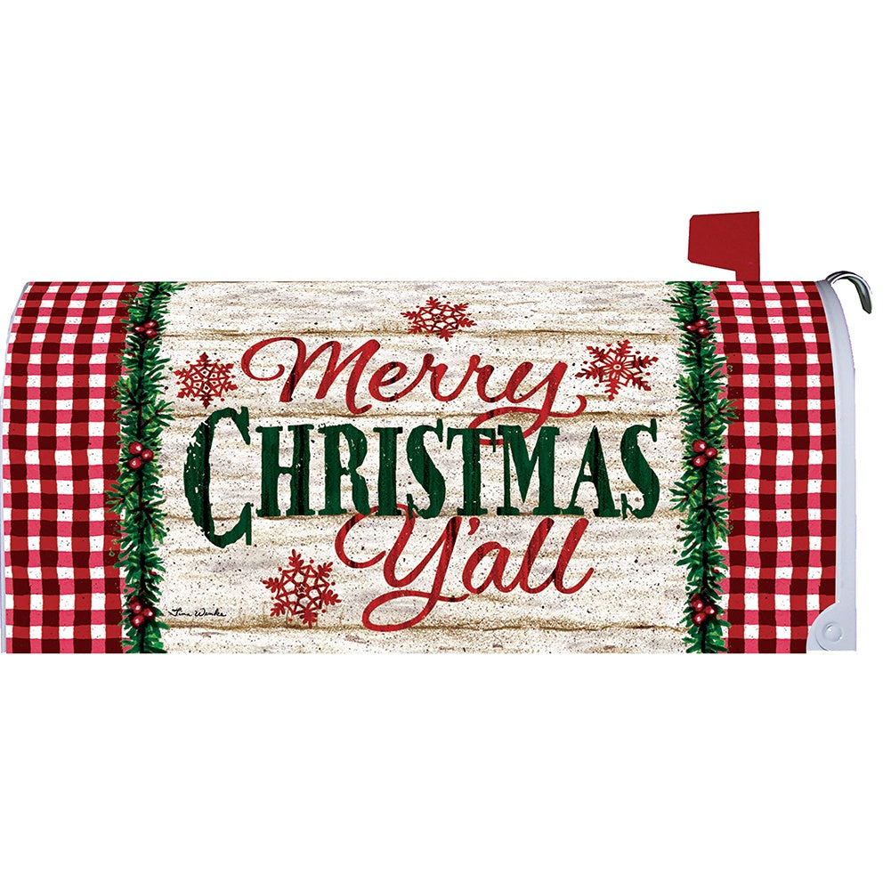 Christmas Y'all Mailbox Cover
