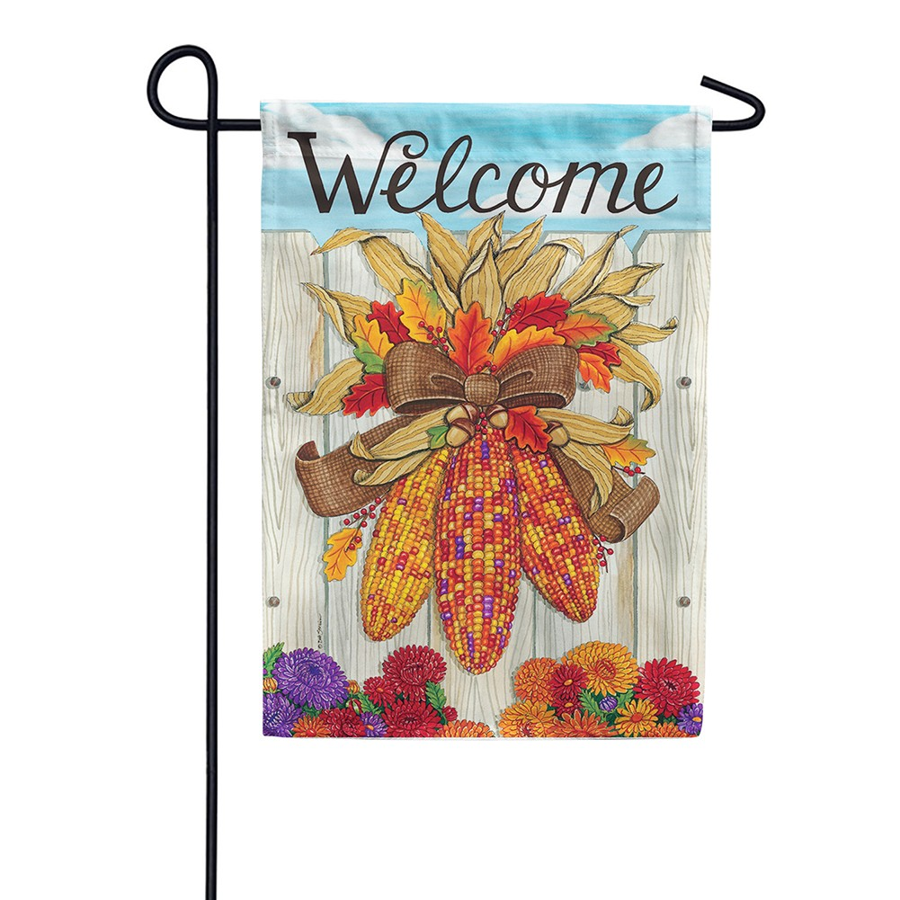 Indian Corn Thanksgiving Double Sided Garden Flag