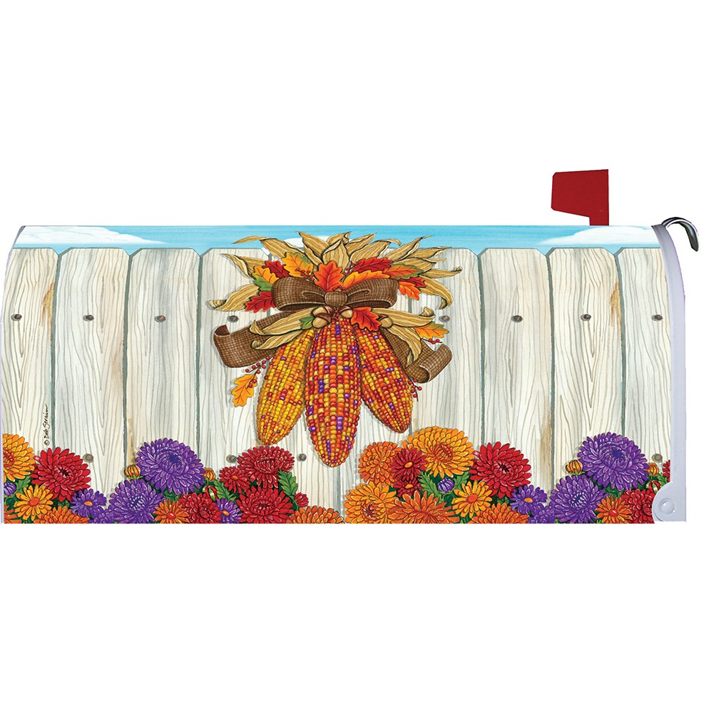 Indian Corn Thanksgiving Mailbox Cover