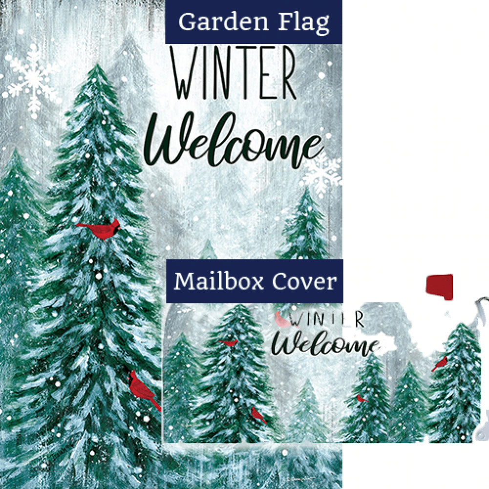 Winter Wonderland Welcome Double Sided Flag Mailwrap Set (2 Pieces)