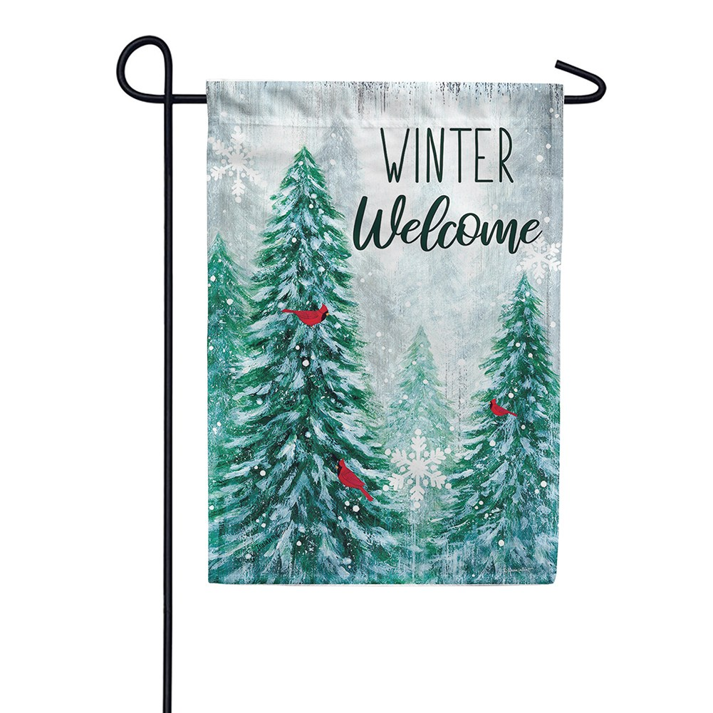 Winter Wonderland Welcome Double Sided Garden Flag