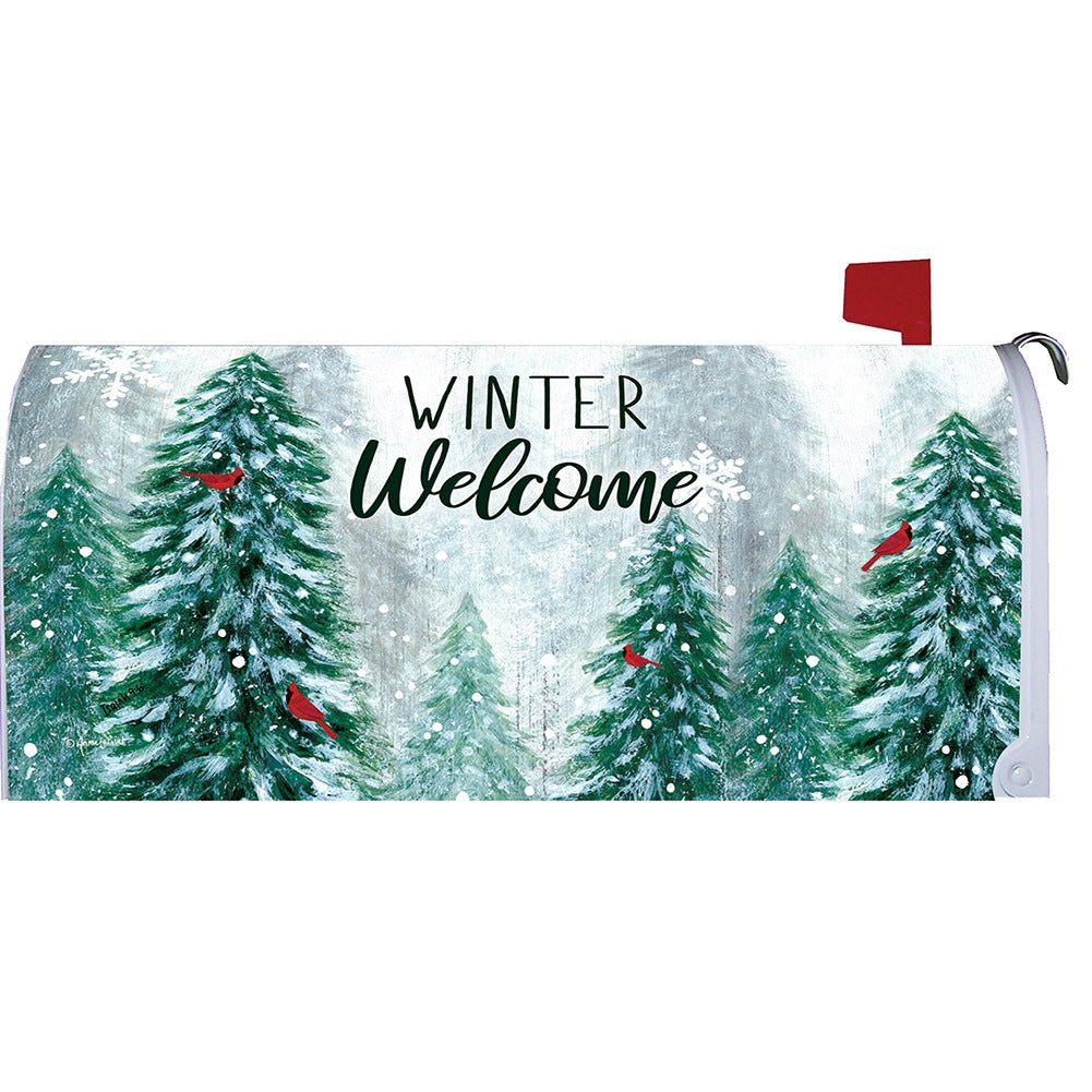 Winter Wonderland Welcome Mailbox Cover
