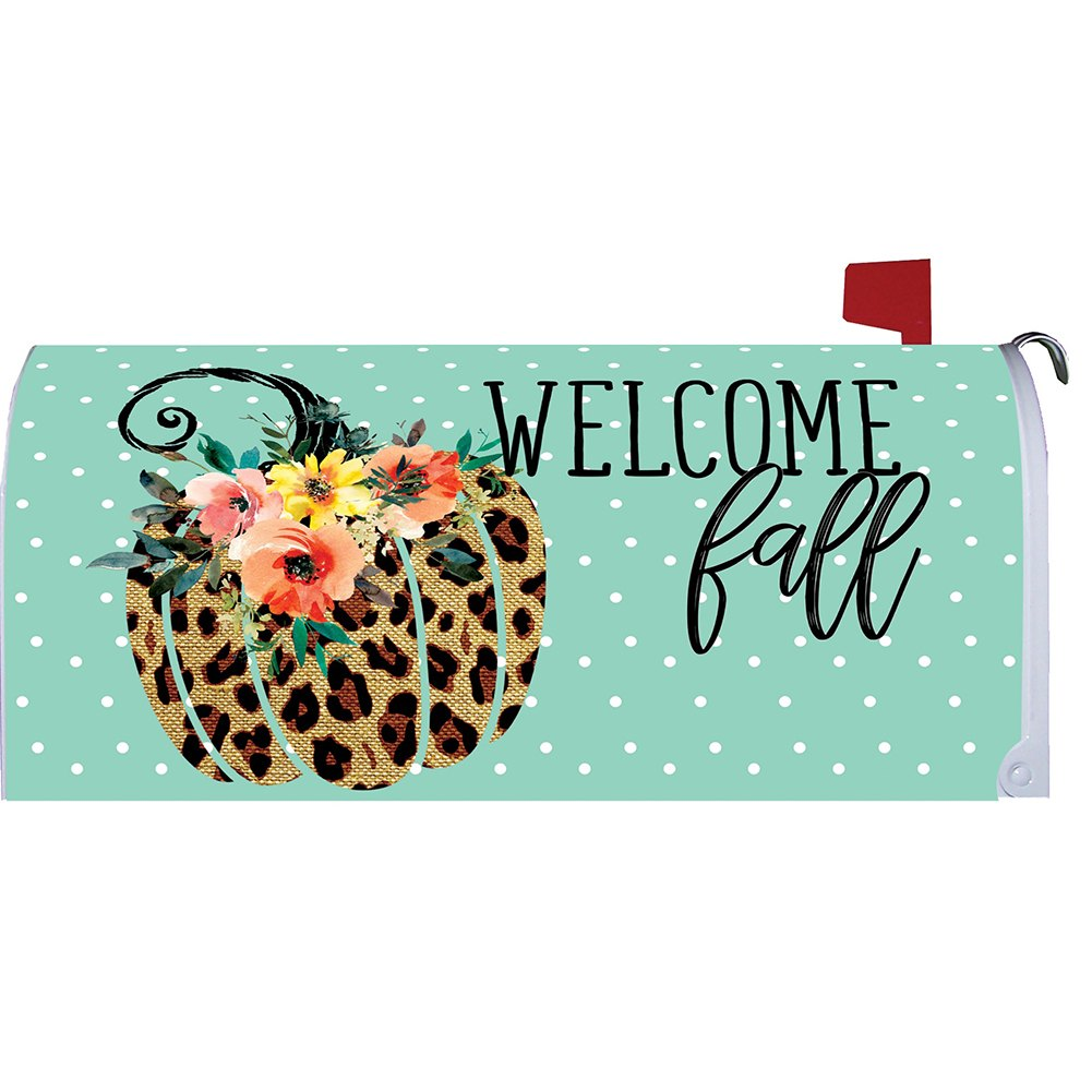 Cheetah Pumpkin Mailbox Cover