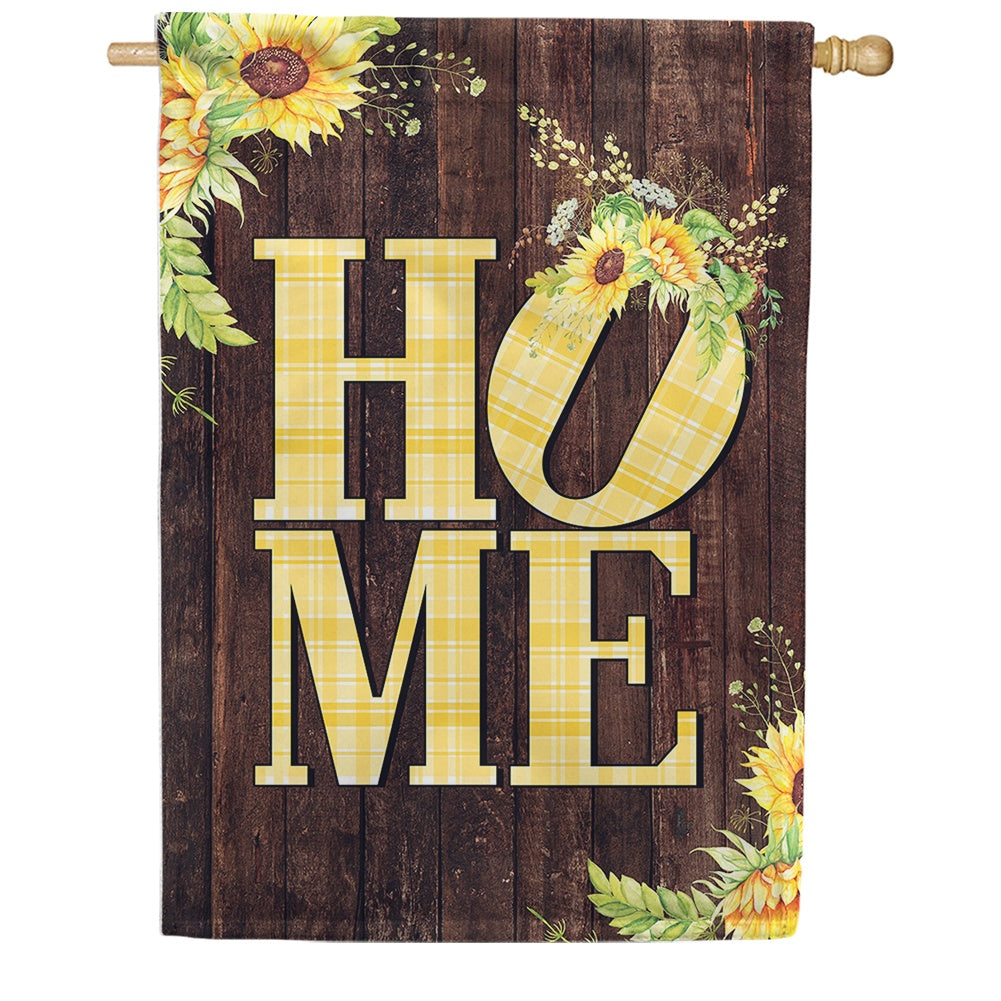 Sunflower Home Double Sided House Flag