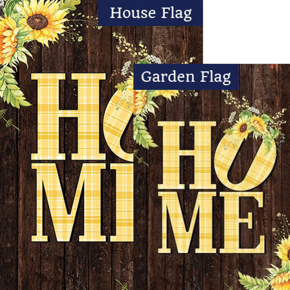 Sunflower Home Double Sided Flags Set (2 Pieces)