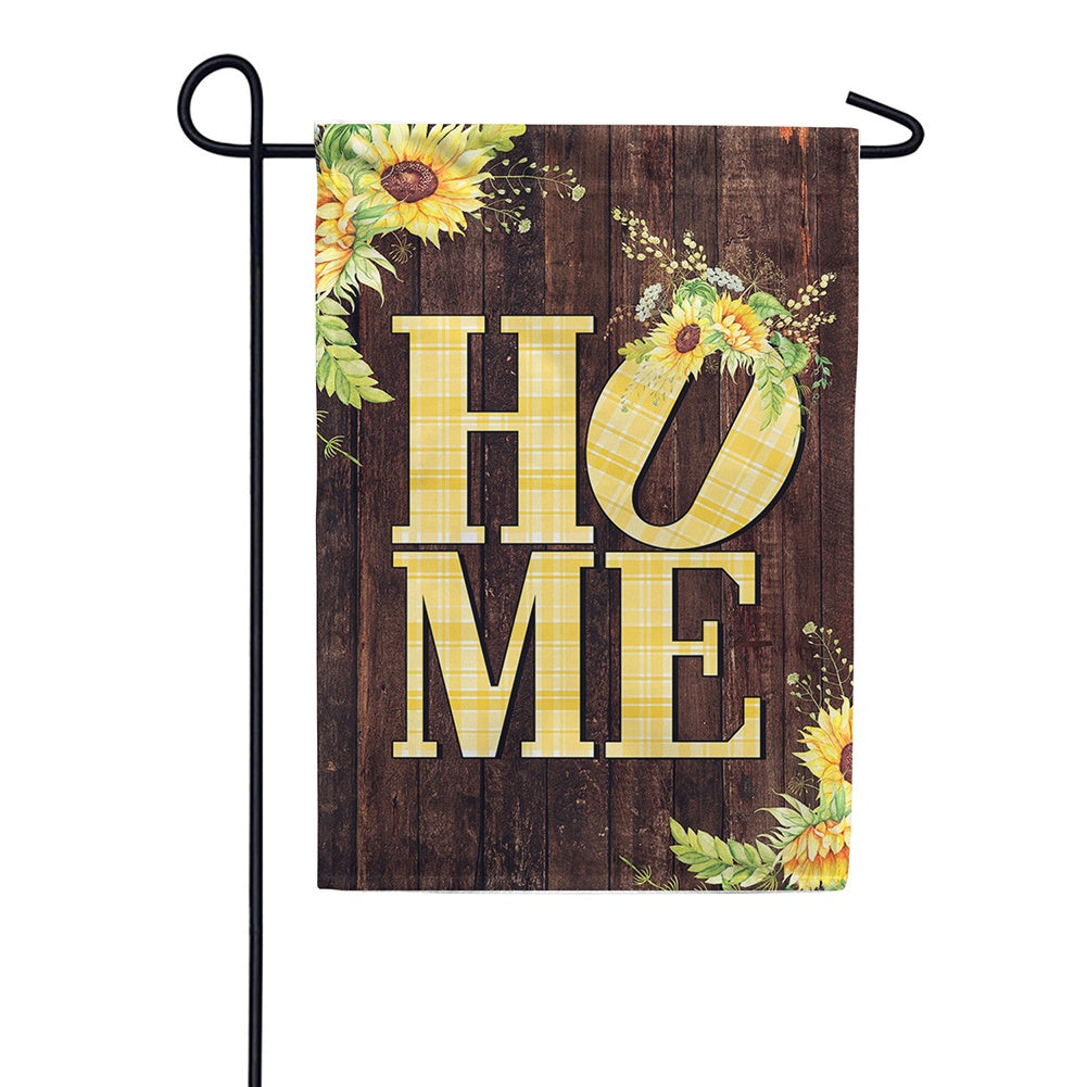 Sunflower Home Double Sided Garden Flag