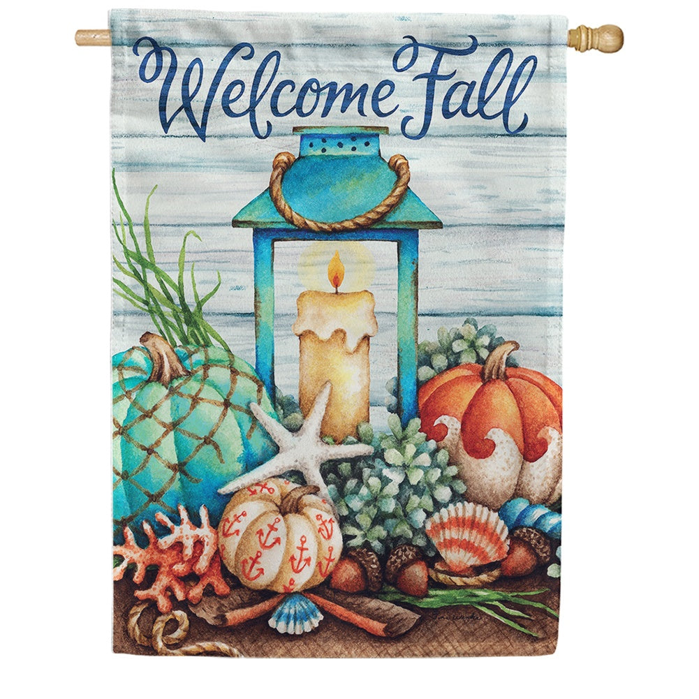 Coastal Fall Double Sided House Flag