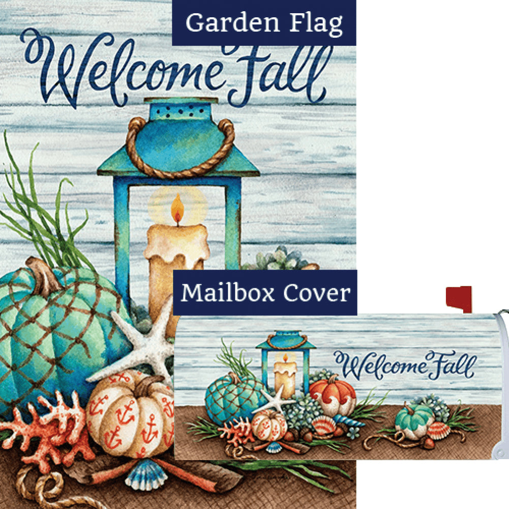 Coastal Fall Double Sided Flag Mailwrap Set (2 Pieces)