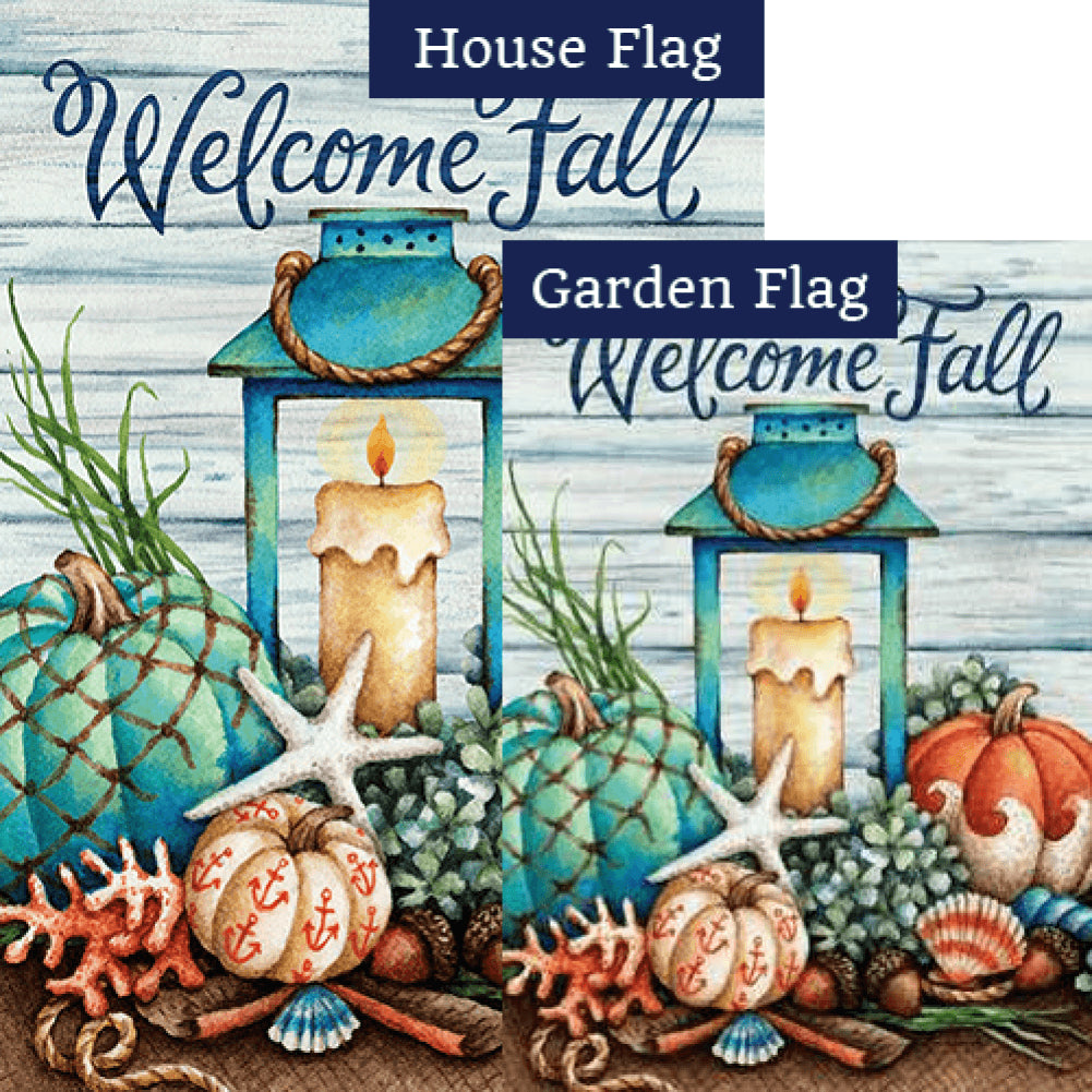Coastal Fall Double Sided Flags Set (2 Pieces)