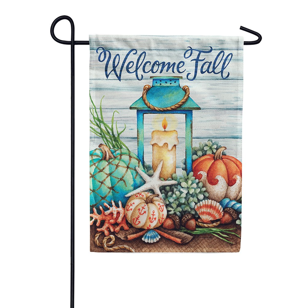 Coastal Fall Double Sided Garden Flag