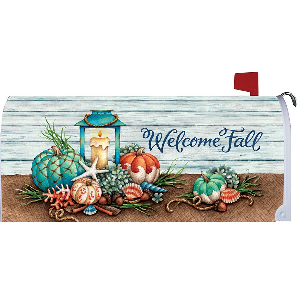 Coastal Fall Mailbox Cover