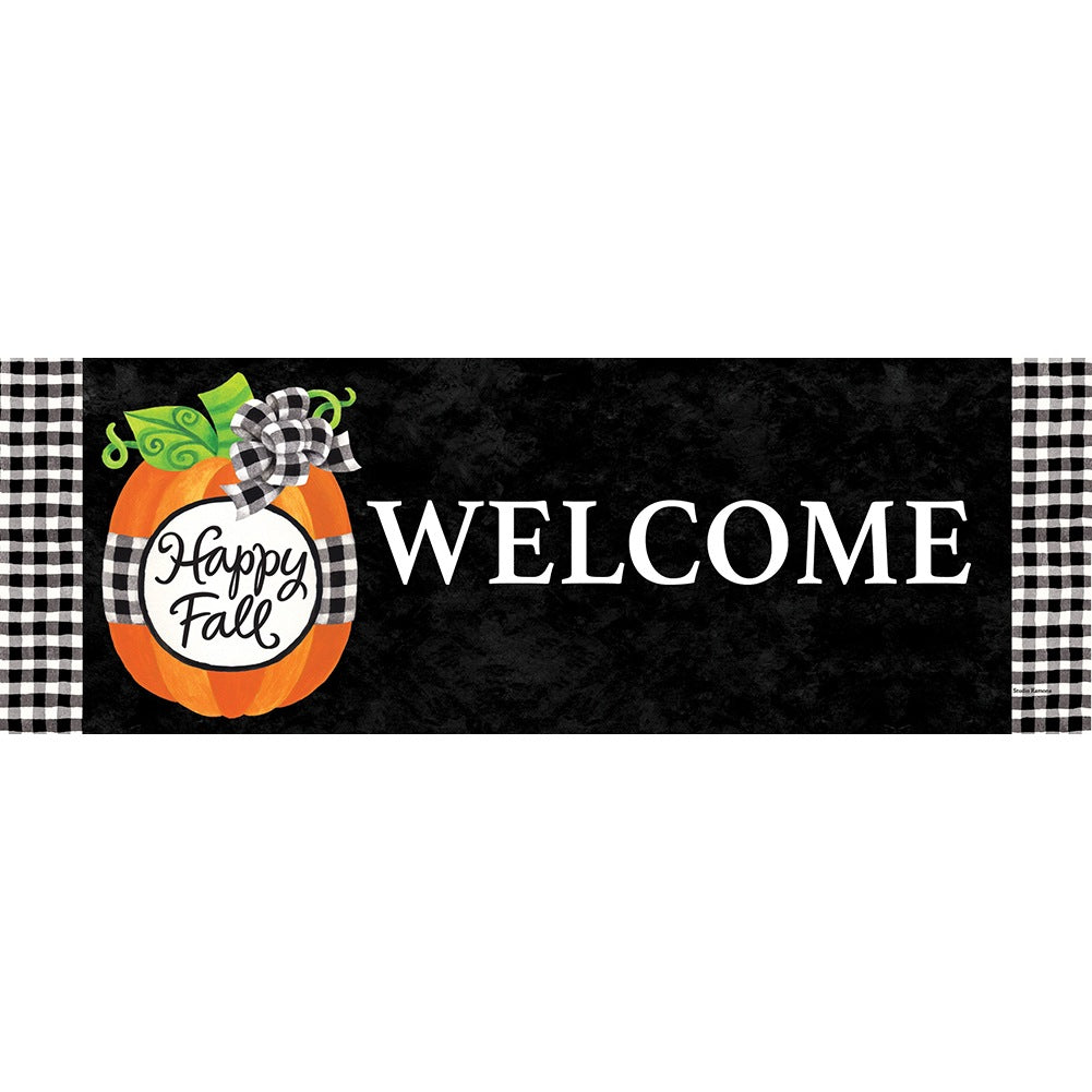 Gingham Pumpkin Signature Sign