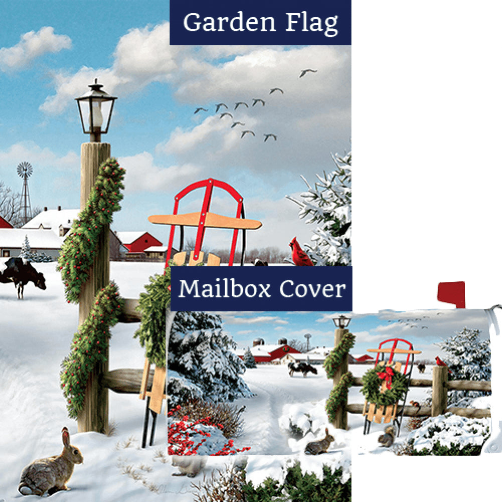 Winter Sled Flag Mailwrap Set (2 Pieces)