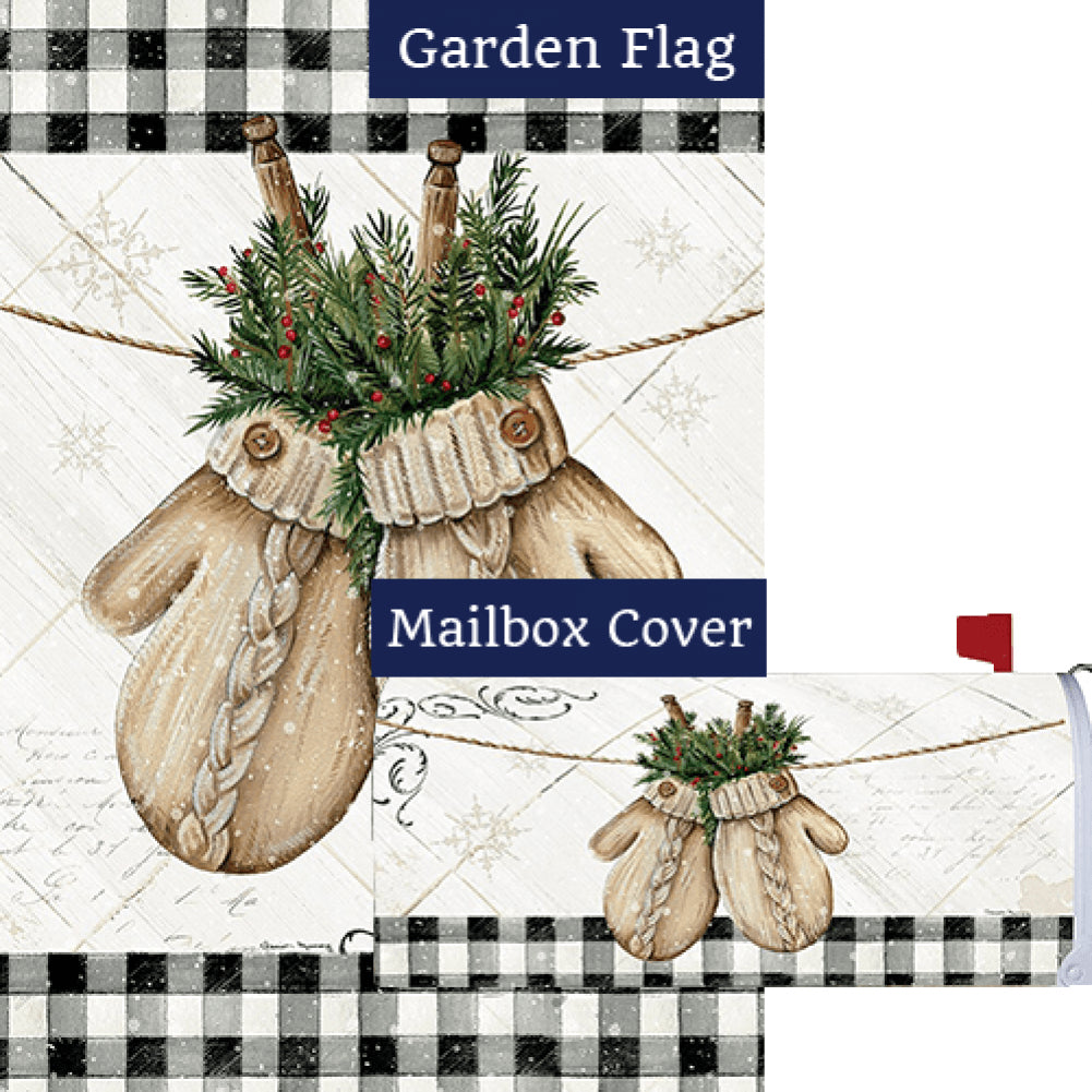 Winter Mittens Flag Mailwrap Set (2 Pieces)