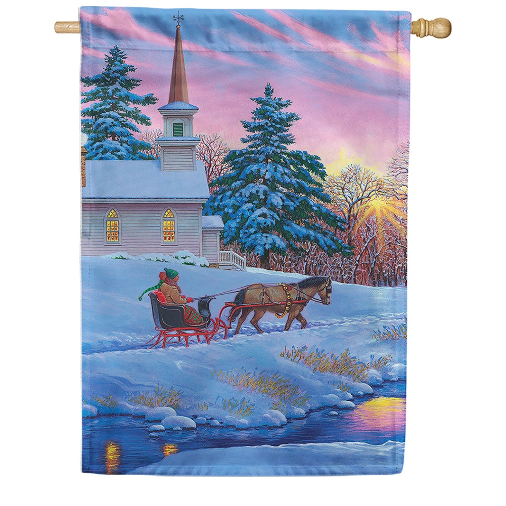 Sleigh Ride House Flag