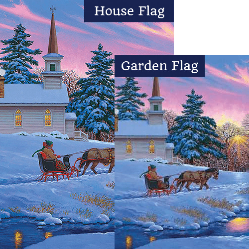 Sleigh Ride Flags Set (2 Pieces)