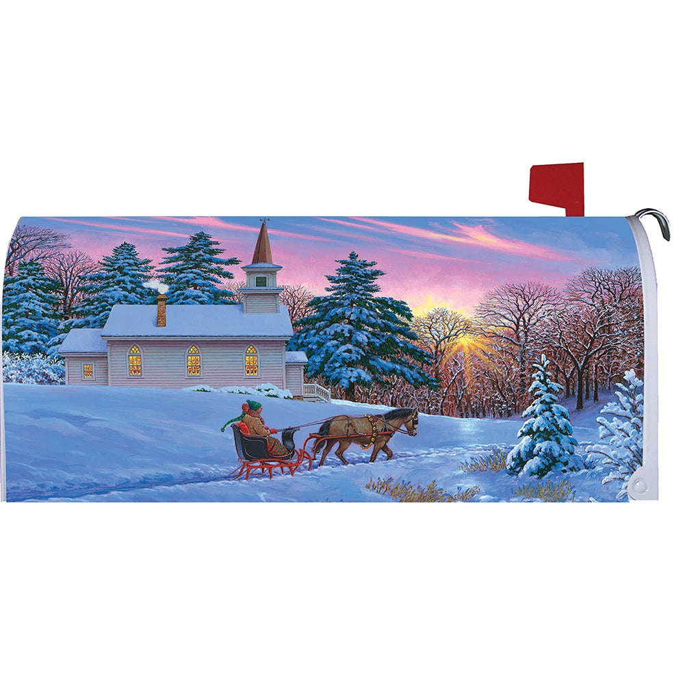 Sleigh Ride Winter Mailbox Cover