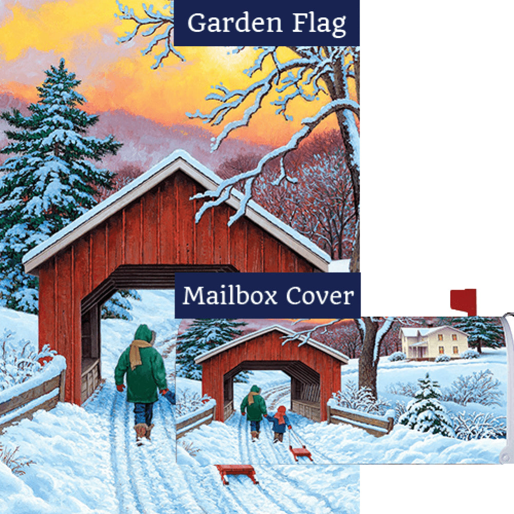 Covered Bridge Flag Mailwrap Set (2 Pieces)