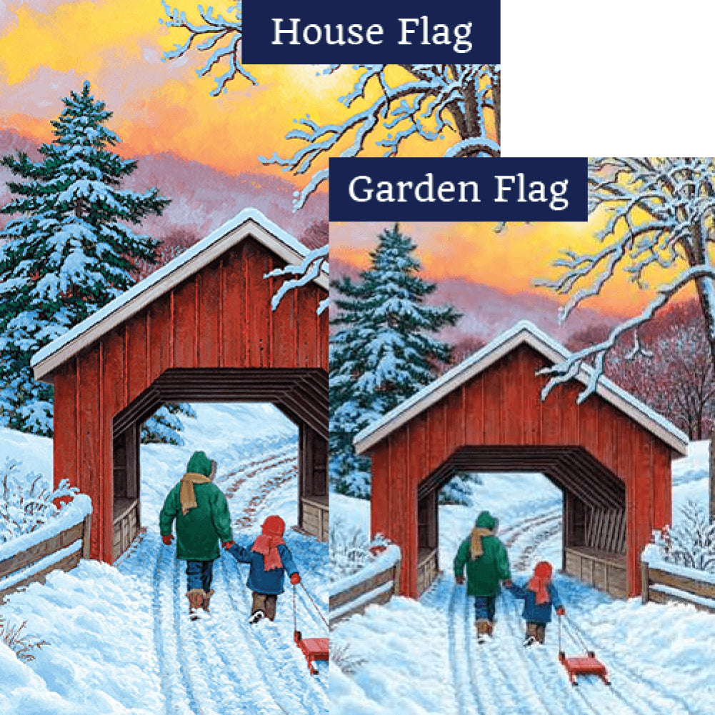 Covered Bridge Flags Set (2 Pieces)