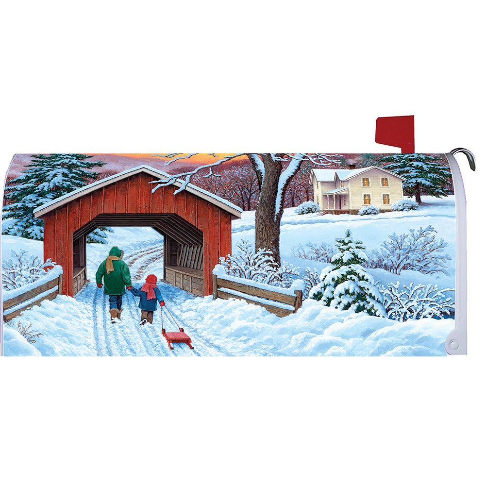 Covered Bridge Mailbox Cover