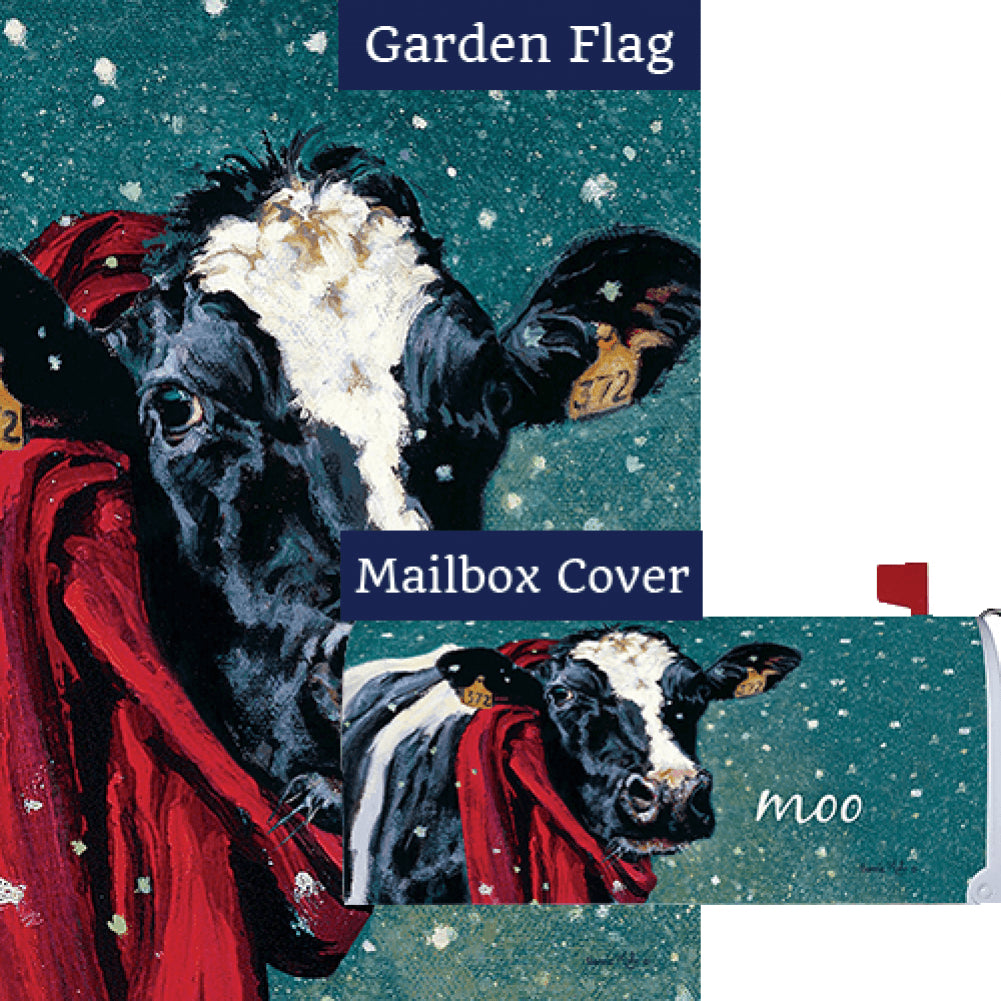 Winter Cow Flag Mailwrap Set (2 Pieces)
