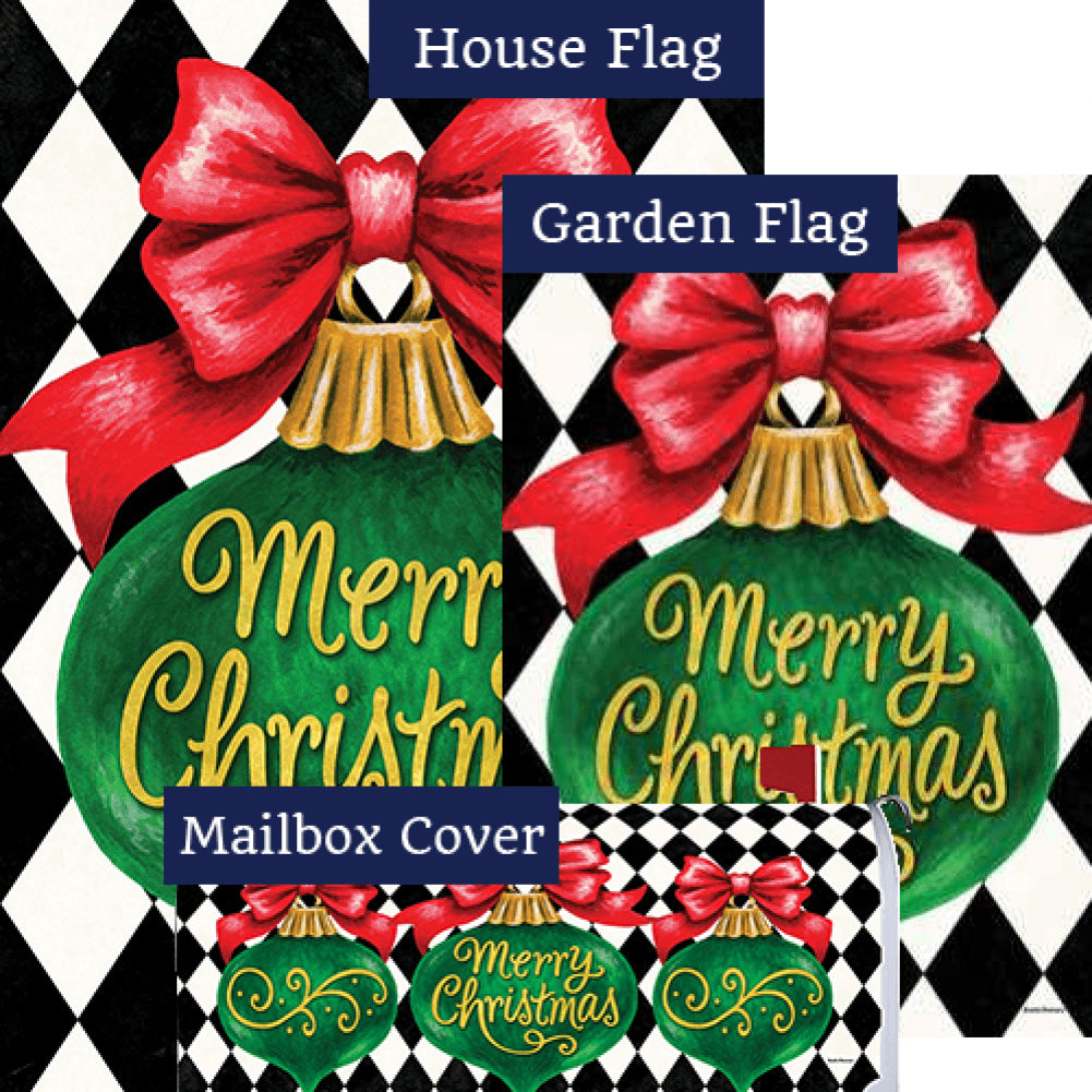 Merry Christmas Ornament Double Sided Yard Makeover Set (3 Pieces)