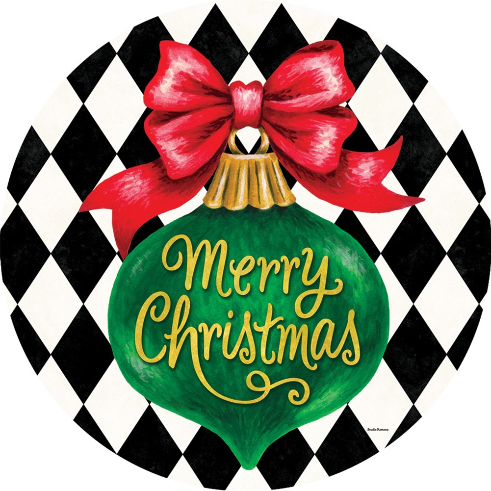 Merry Christmas Ornament Accent Magnet