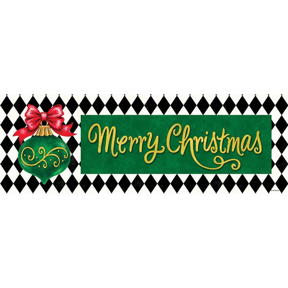 Merry Christmas Ornament Signature Sign