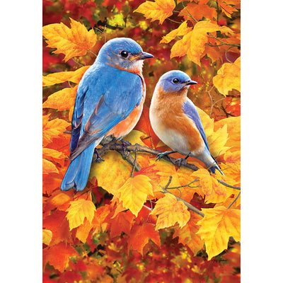 Fall Bluebirds House Flag