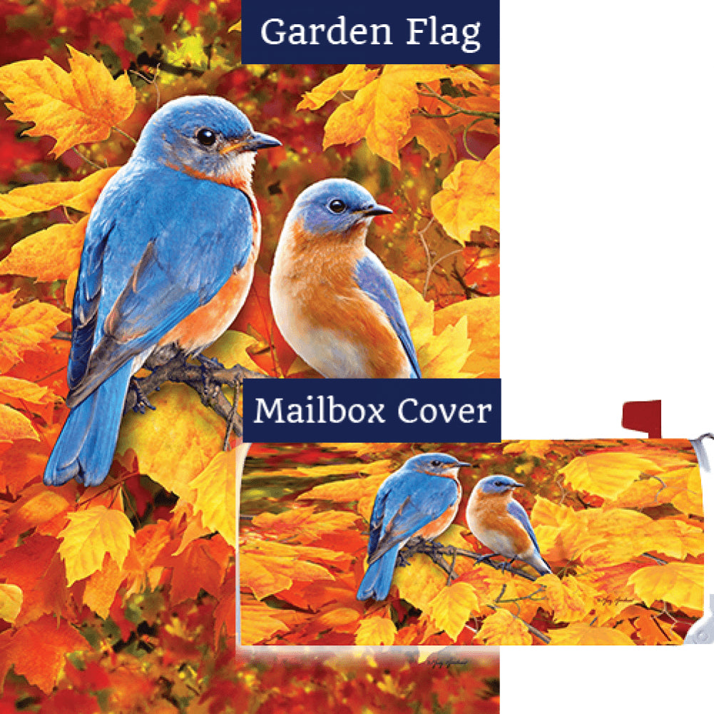 Fall Bluebirds Flag Mailwrap Set (2 Pieces)