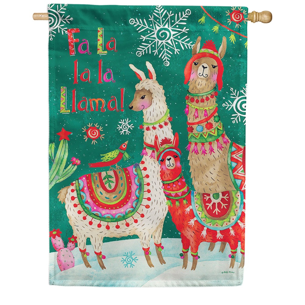Fa La Llama Double Sided House Flag