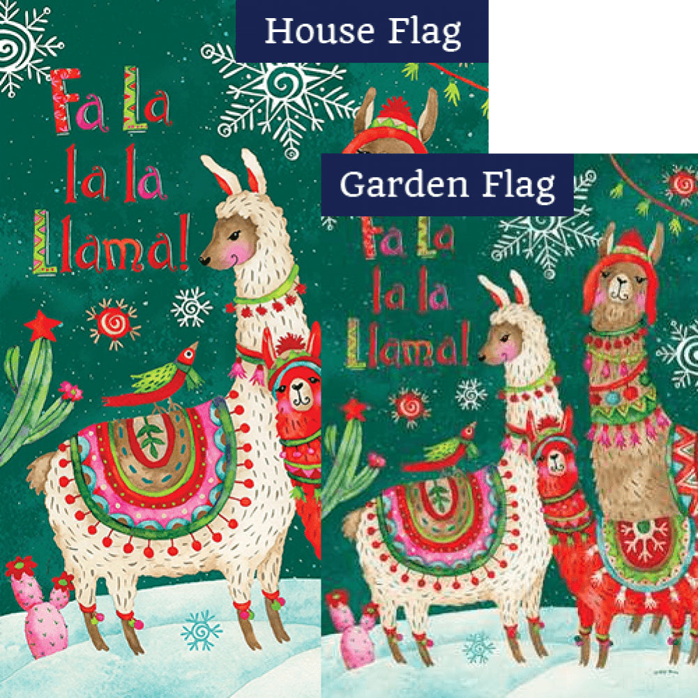 Fa La Llama Double Sided Flags Set (2 Pieces)
