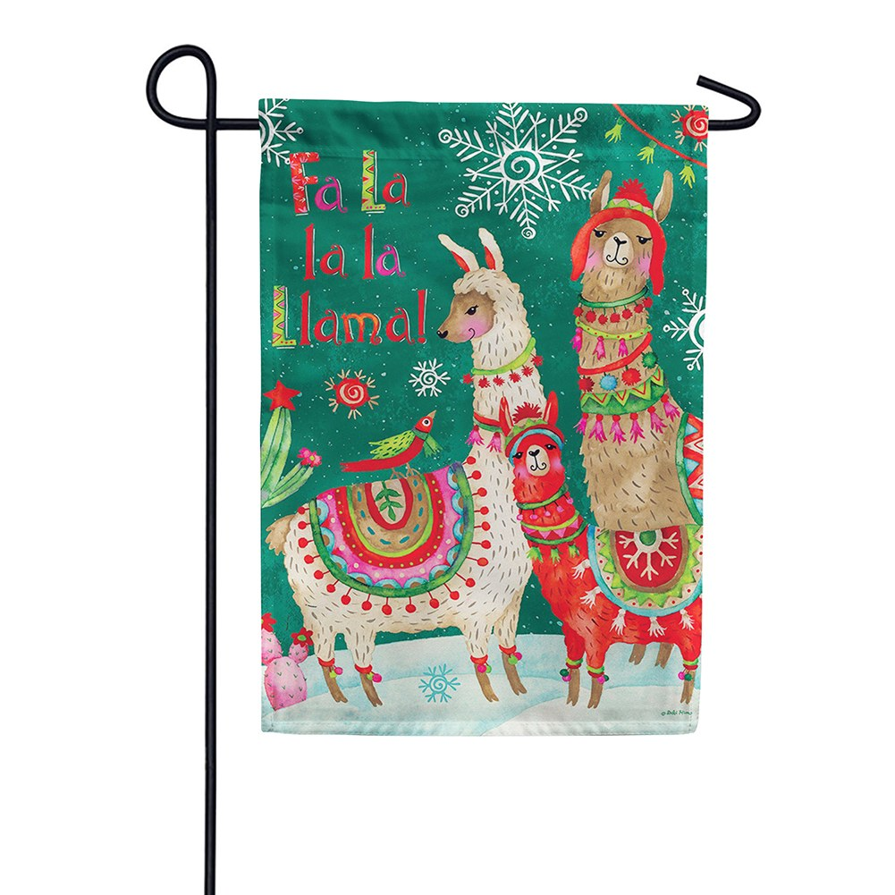 Fa La Llama Double Sided Garden Flag