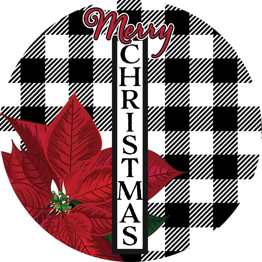 Gingham Christmas Accent Magnet