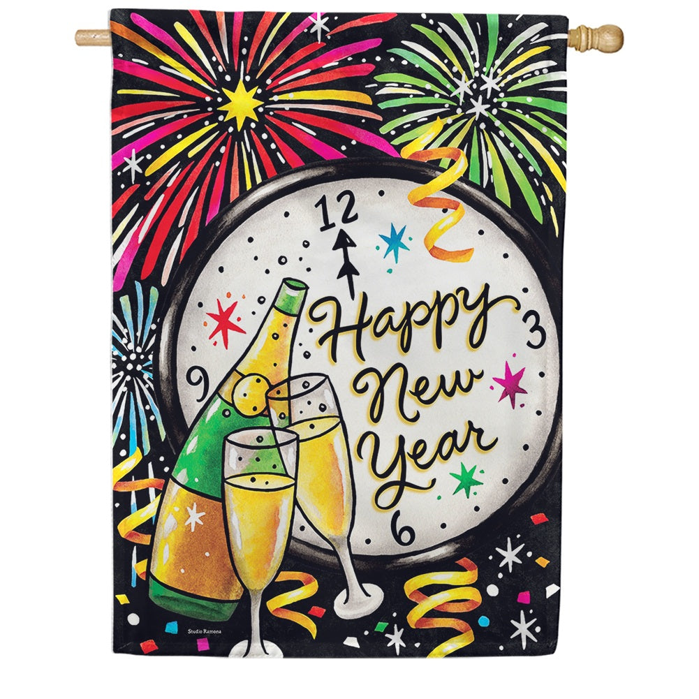 New Year's Eve Double Sided House Flag