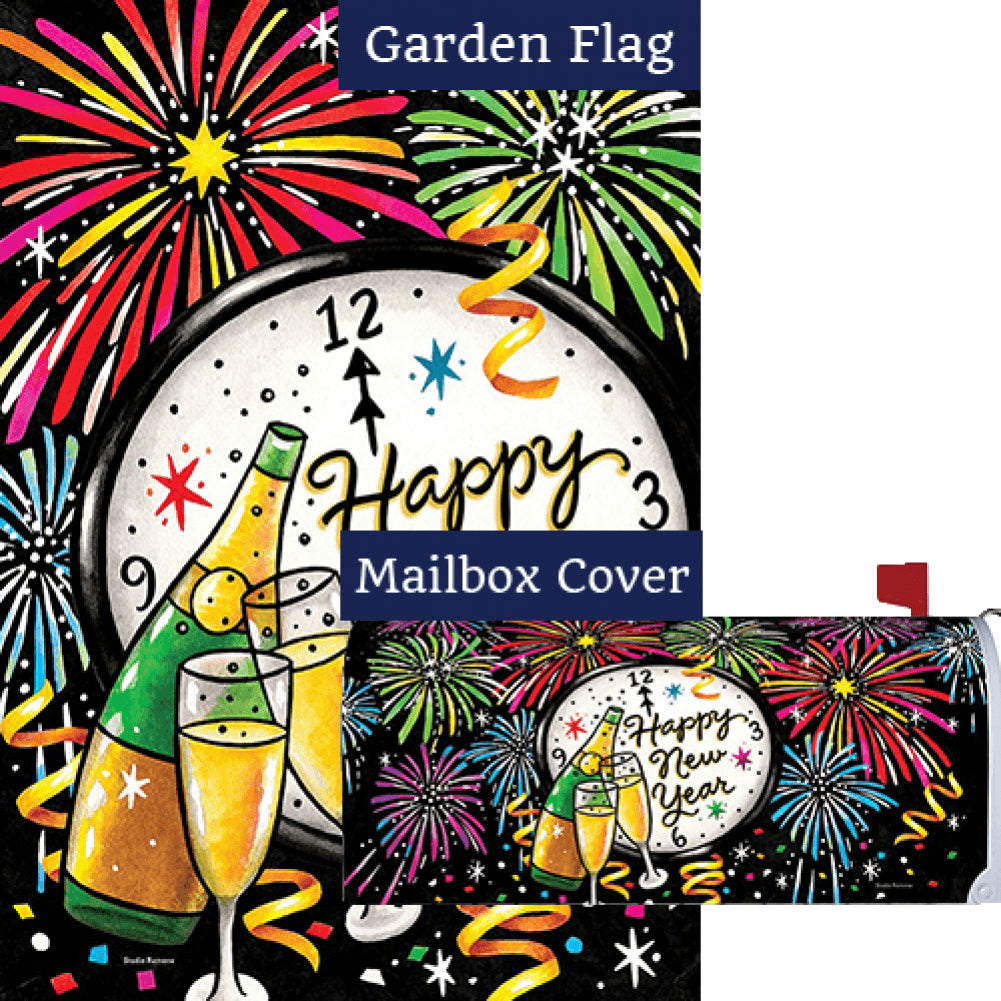New Year's Eve Double Sided Flag Mailwrap Set (2 Pieces)