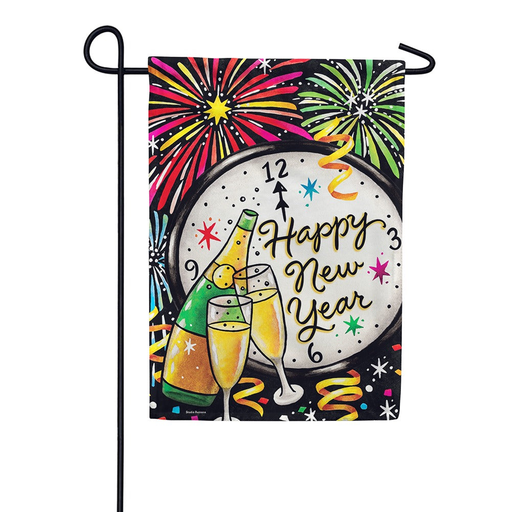 New Year's Eve Double Sided Garden Flag