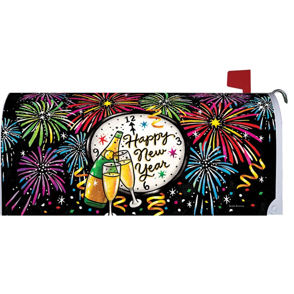 New Year's Eve Mailbox Cover