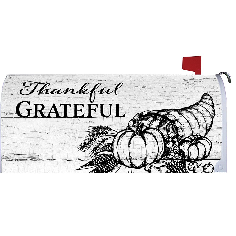 Grateful Thankful Mailbox Cover
