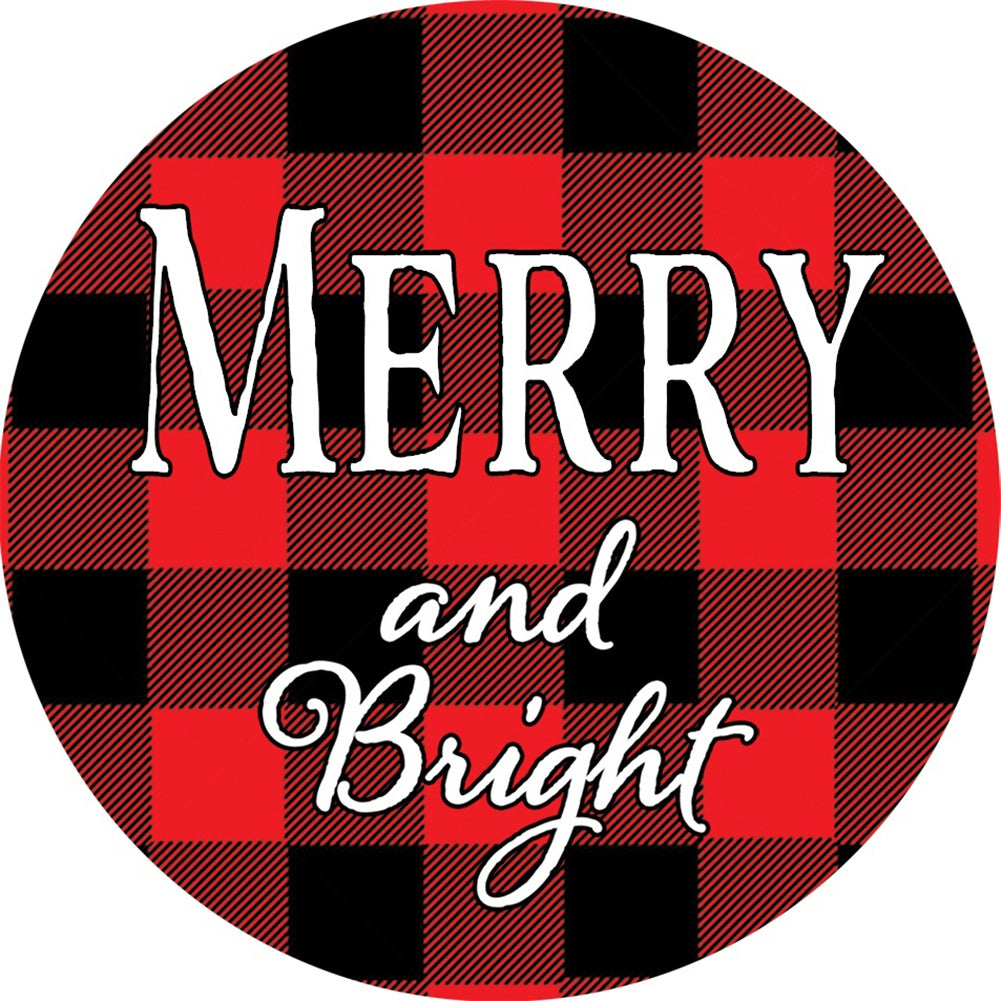 Merry & Bright Checkered Accent Magnet