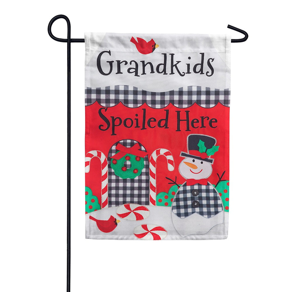 Grandkids Spoiled Appliqued Double Sided Garden Flag