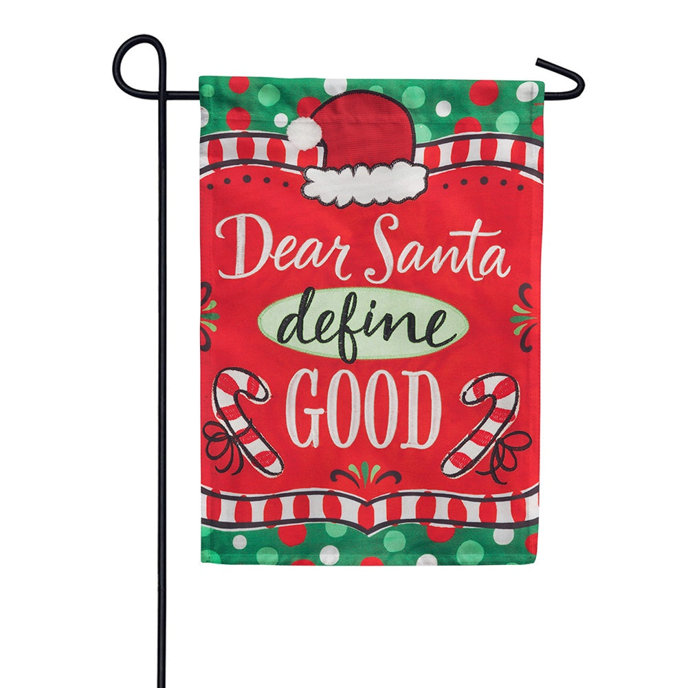 Dear Santa Appliqued Double Sided Garden Flag