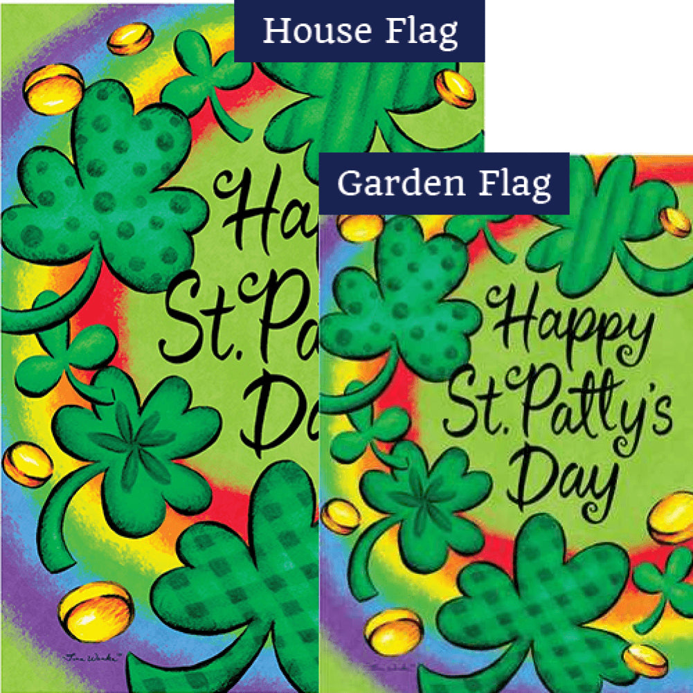 Clovers and Rainbow Flags Set (2 Pieces)