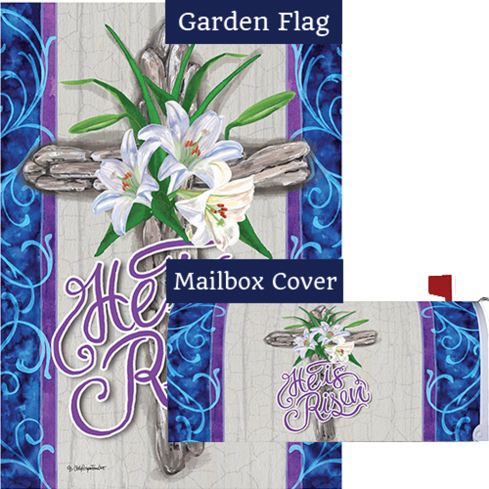 Cross and Lilies Flag Mailwrap Set (2 Pieces)