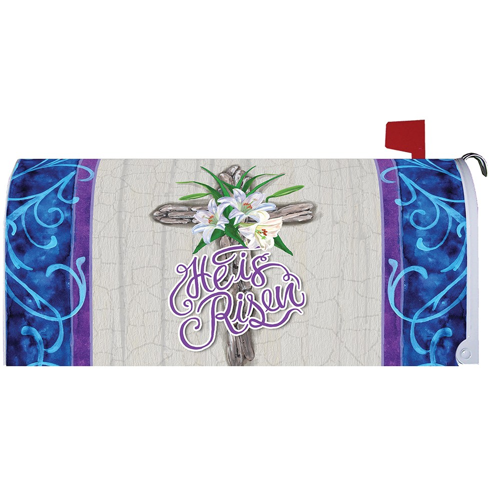 Cross and Lilies Mailbox Cover