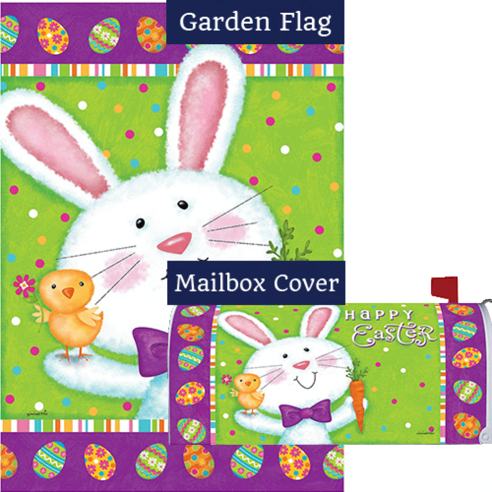 Bowtie Bunny Flag Mailwrap Set (2 Pieces)