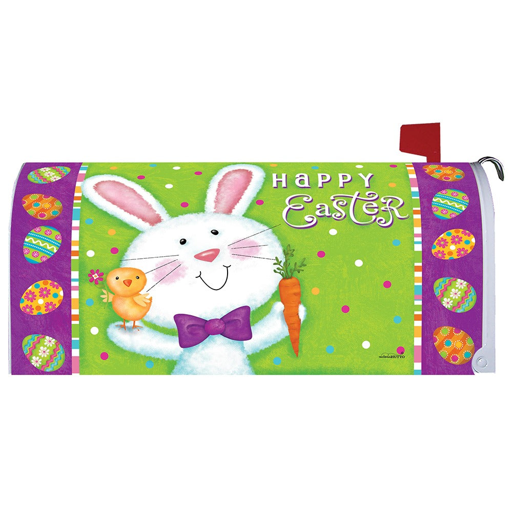 Bowtie Bunny Mailbox Cover