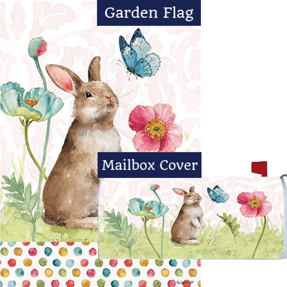 Bunny and Flowers Flag Mailwrap Set (2 Pieces)