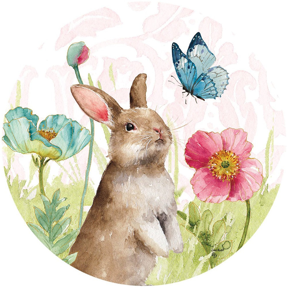 Bunny and Flowers Accent Magnet